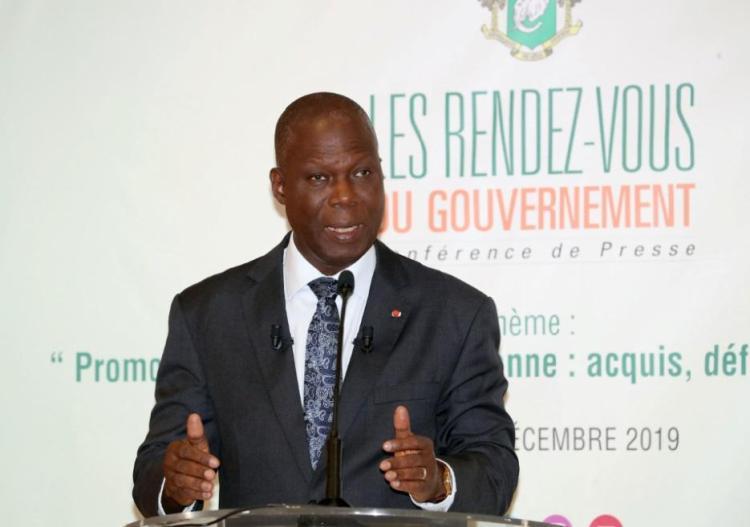 Maurice K. Bandama, ministre de la culture © Cicg