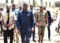 Photo: les ministres Amadou Koné, Sidi Touré et JC Kouassi présentent les condoléances aux familles du couple N'sikan à bouaké