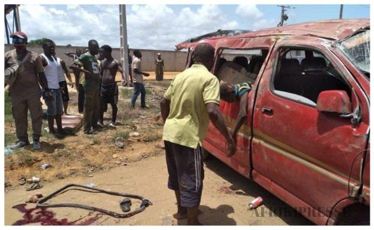 Accident mortel sur la route de Bassam ce lundi 13 avril 2020