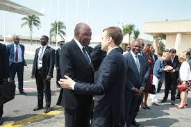 Le premier ministre Amadou Gon Coulibaly et le président français Emmanuel Macron photo: Gouv.ci