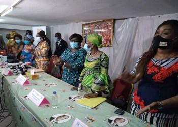 Les femmes du RHDP en ordre de bataille pour la victoire du candidat Ouattara. photo: afrikipresse