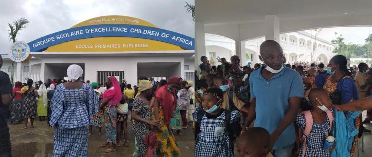La rentrée scolaire au groupe scolaire d'Excellence Children Of Africa d'Abobo