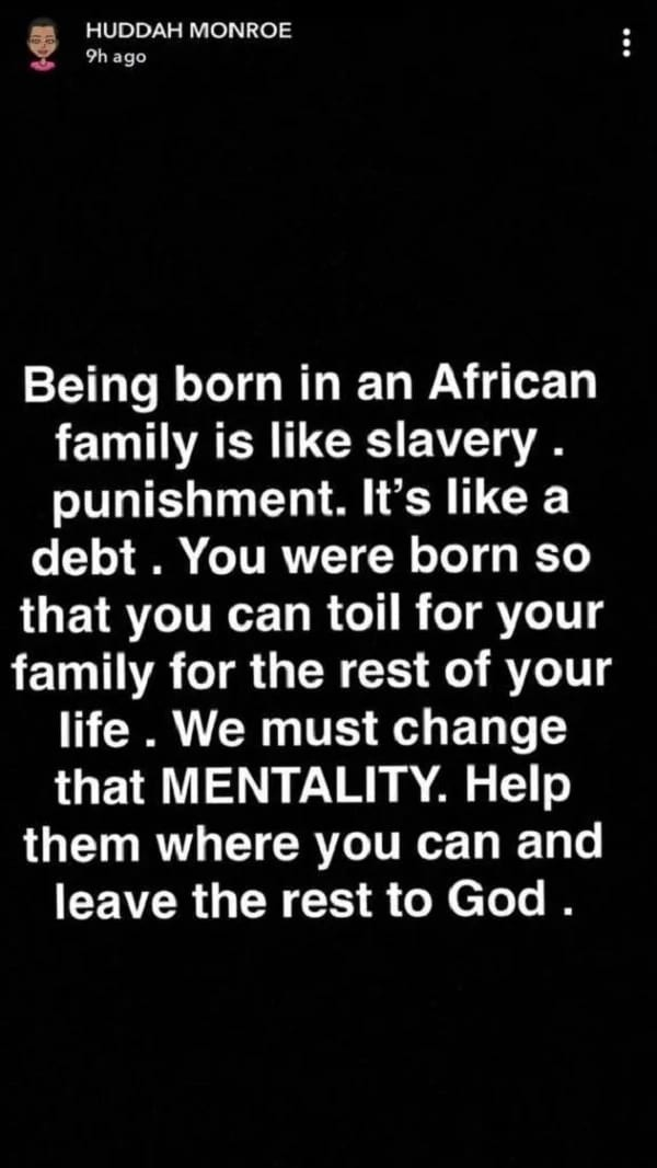 """Huddah Monroe: """"To be born into an African family is like slavery"""""""
