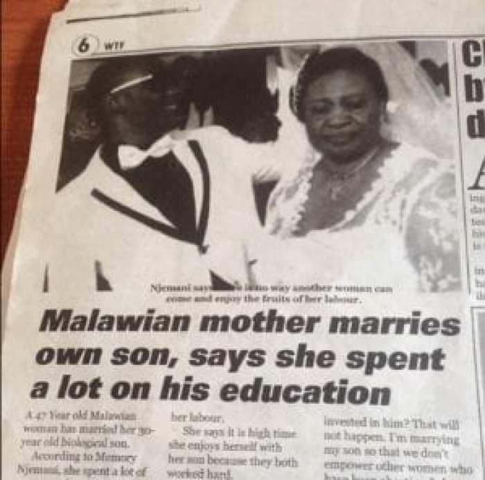 Insolite: Ces africaines qui se sont mariées ou ont eu des enfants avec leurs fils biologiques (photos)