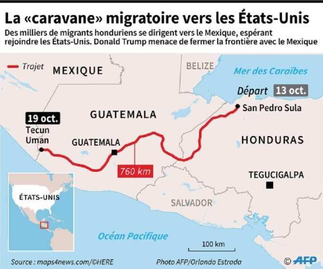 Honduras: migrants defy Trump while walking towards the US border