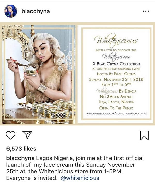 Nigeria : Blac Chyna annonce une crème éclaircissante… La polémique s'installe !