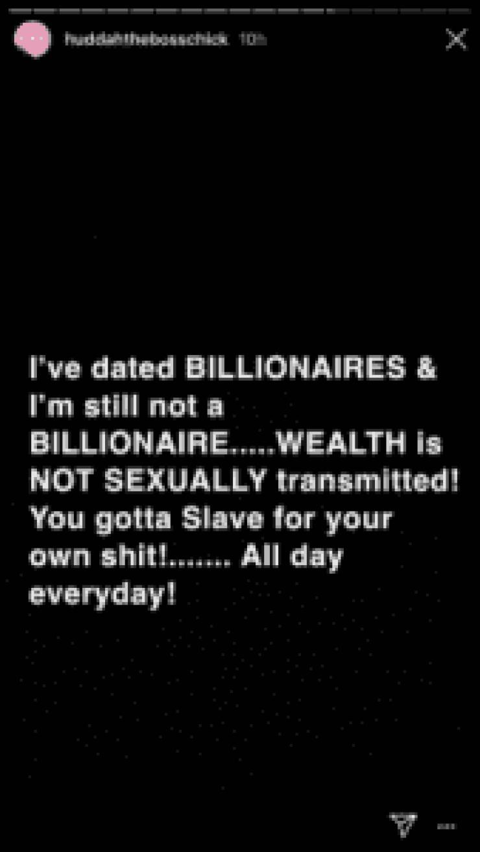 Huddah Monroe: «J'ai couché avec des milliardaires...la richesse ne se transmet pas sexuellement »