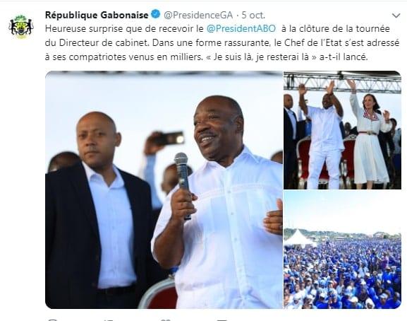 Gabon : « Je suis là, et je serai toujours là », dixit le président Ali Bongo