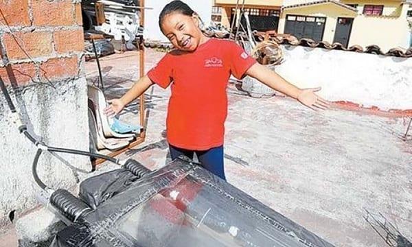 Une fillette de 8 ans invente un chauffe-eau solaire et remporte le prix des sciences nucléaires