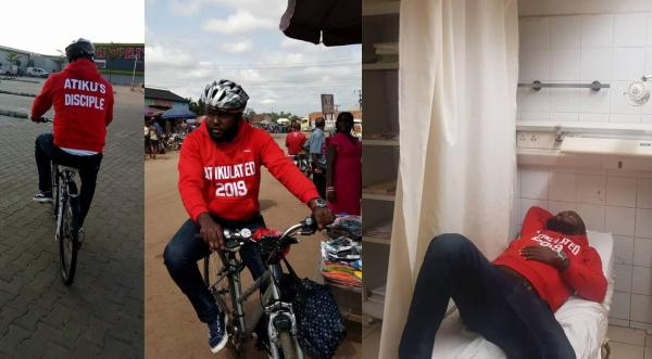 Photo of Nigeria: Atiku's disciple that rode his bicycle for over 540km collapsed