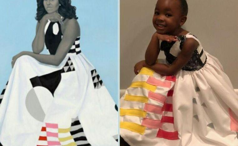 Photo of Cute: Parker Curry dresses up like Michelle Obama for Halloween