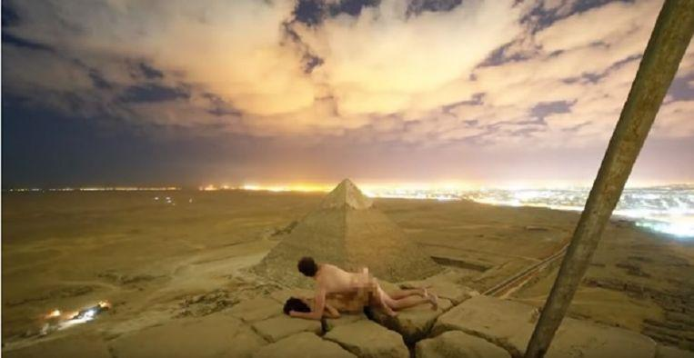 Photo of Danish couple has pleasure on top of Egyptian pyramid