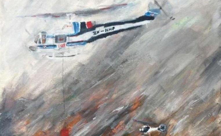 Photo of Cheering: A painting that boy (11) makes of forest fires in Nelson goes viral