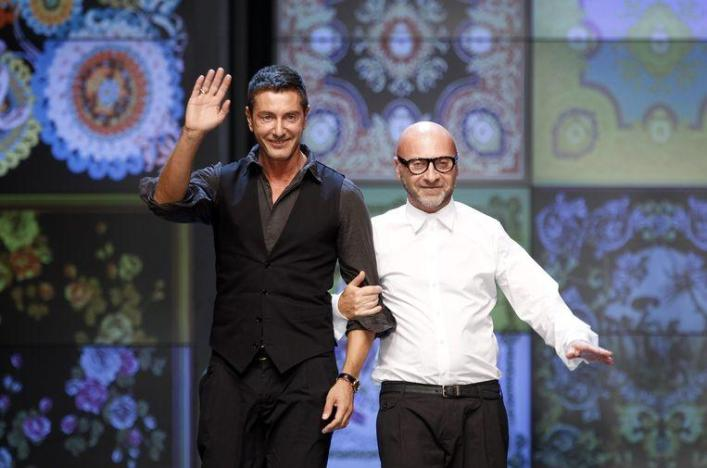 Stefano Gabbana and Domenico Dolce split up in 2005, but their fashion line continued.
