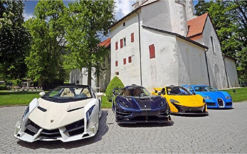 Supercars of a son of African dictator under the hammer