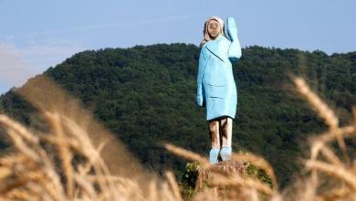 "Photo of The brand new statue of Melania Trump: ""Scarecrow"""