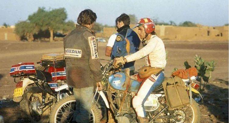 Photo of Thierry Sabine lost in desert, created Dakar and died in desert