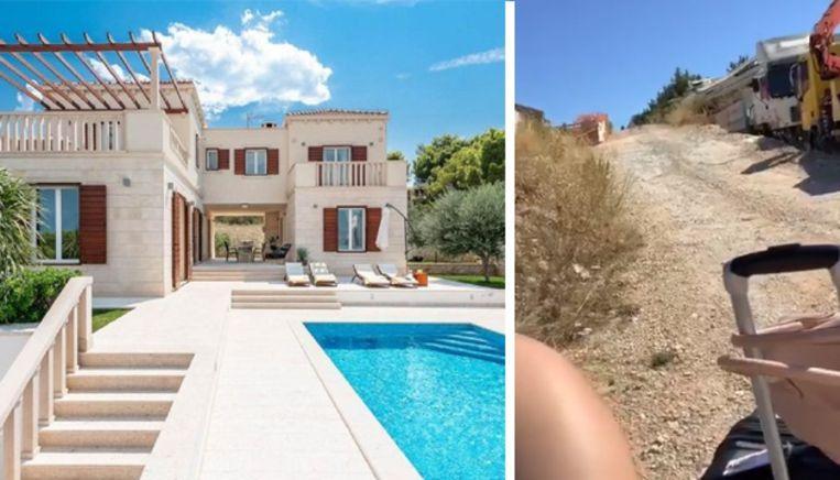 Photo of Friends rent for €6,200 via Booking non-existent villa in Croatia