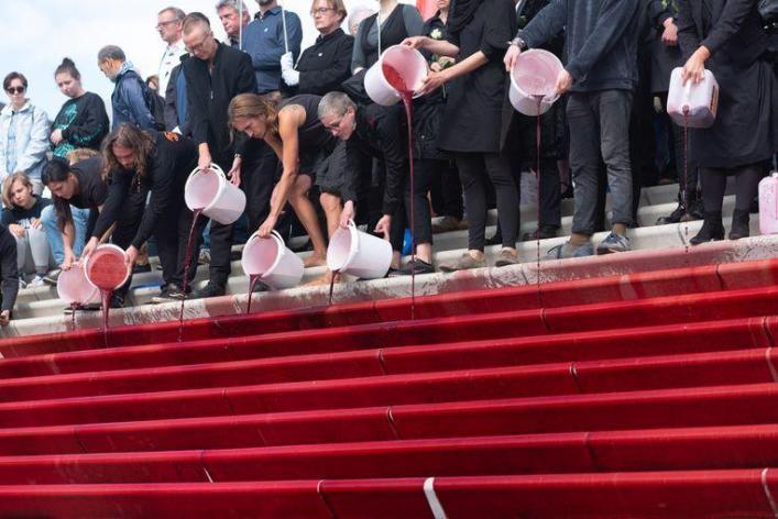 Climate activists hijack London fashion week