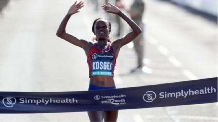 Kenyan Kosgei holds world record for women's half marathon
