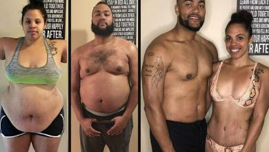 """Photo of Jasmine and Jeremy lose 100 kilos in one year: """"We wanted to set a good example to our daughters"""""""