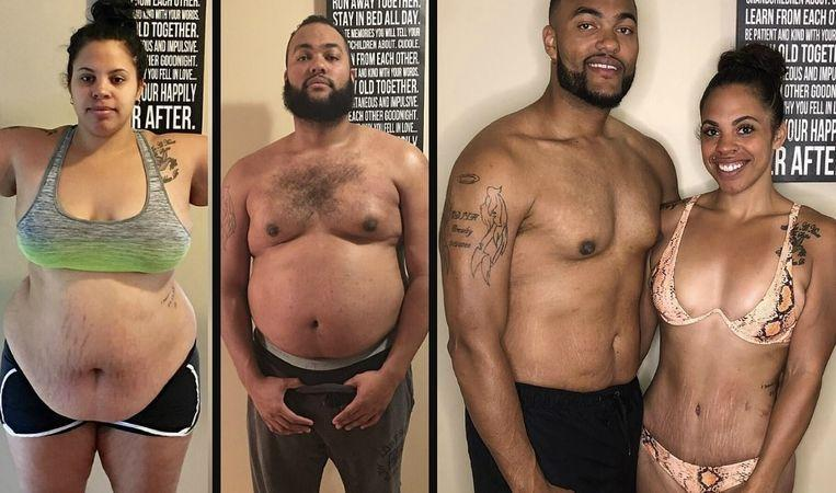"Photo of Jasmine and Jeremy lose 100 kilos in one year: ""We wanted to set a good example to our daughters"""