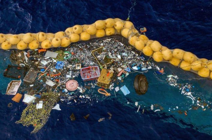 'Success photo' of Ocean Cleanup plastic catcher worries biologists