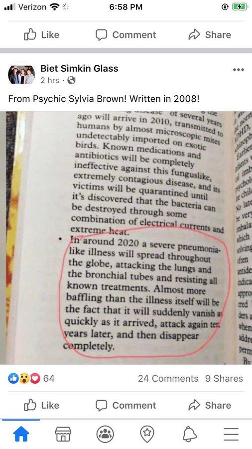 Kim Kardashian shares excerpt from a book that predicts coronavirus