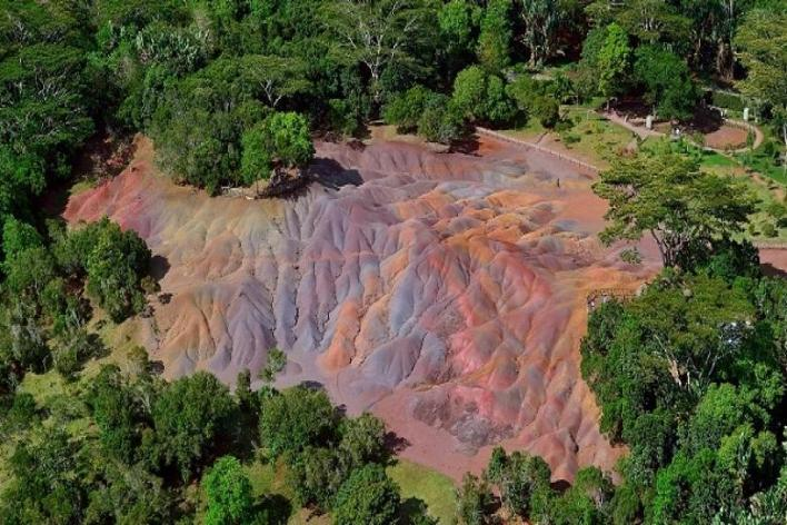 The Seven-Colored Earth of Chamarel in Mauritius