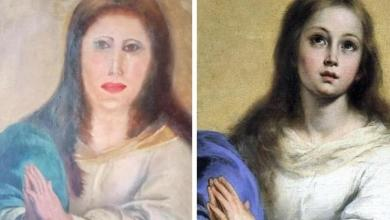 "Photo of Restoration goes wrong: ""face of Virgin Mary mutilated beyond recognition"""