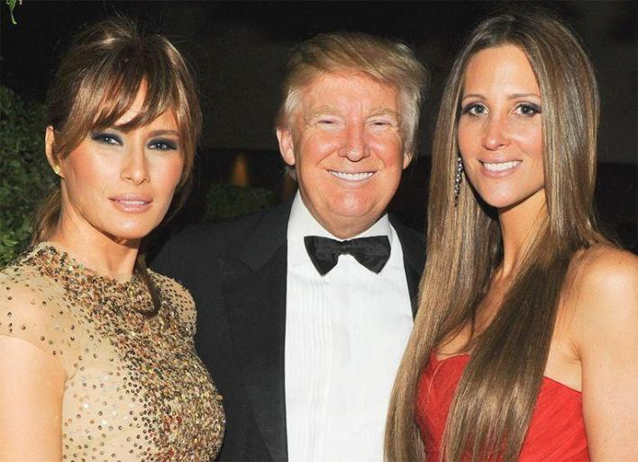 Stephanie Winston Wolkoff with the Trumps in better times: during the Met Gala in 2011.