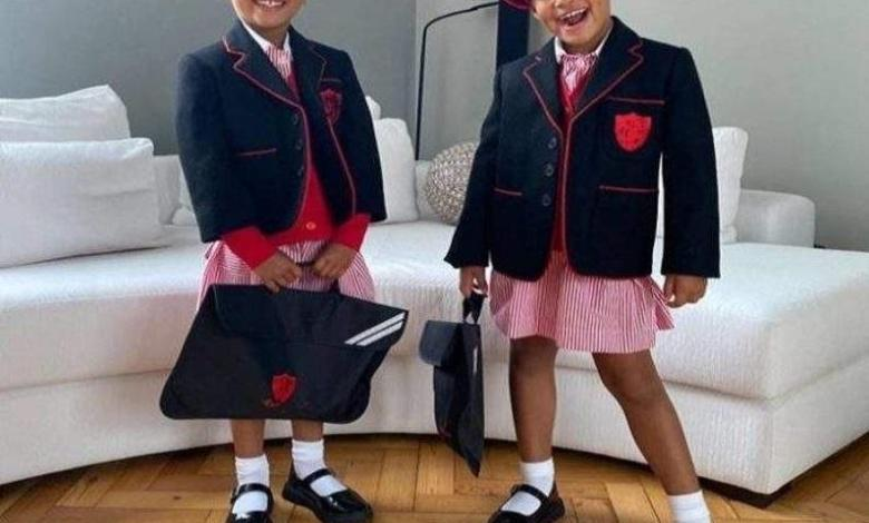 Photo of Cute picture of Mikel Obi's twins Mia and Ava starting school