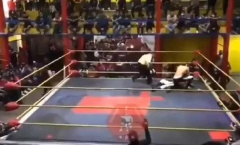 Photo of Mexican wrestler (26) died in the ring after a punch