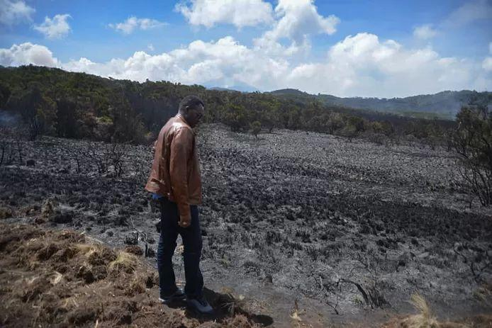 Photo of Fire on Kilimanjaro under control after five days