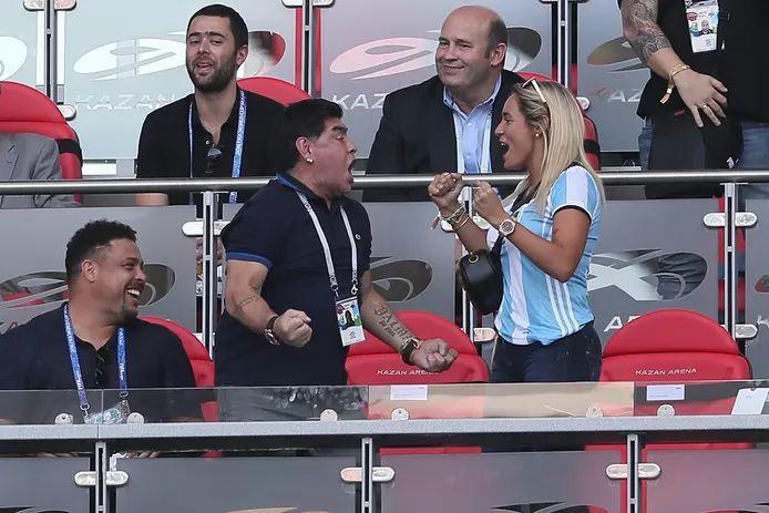 Maradona with Rocío Oliva
