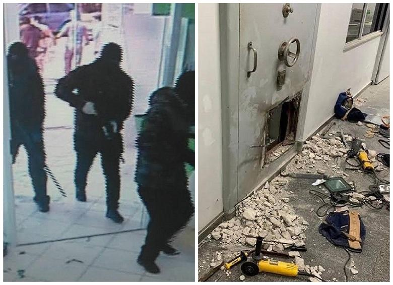 30 robbers rob bank in Brazil, street littered with banknotes