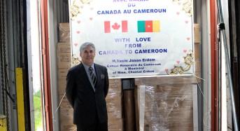 """""""Avec amour du Canada au Cameroun"""", Envoie des containers des matériels sanitaires au Cameroun"""
