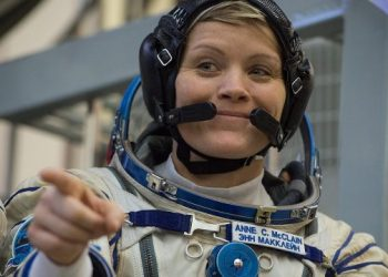 (FILES) In this file photo taken on November 14, 2018 NASA astronaut Anne McClain, a member of the International Space Station (ISS) expedition 58/59, attends her final exam at the Gagarin Cosmonauts' Training Centre in Star City outside Moscow. – US space agency NASA is investigating what may be the first crime committed in outer space, The New York Times reported on August 24, 2019. Astronaut Anne McClain is accused of identity theft and improperly accessing her estranged wife's private financial records while on a sixth-month mission aboard the International Space Station (ISS), the Times said. (Photo by STR / AFP)