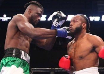 Efe Ajagba (left) is currently one of the highly rated heavyweights in international boxing.