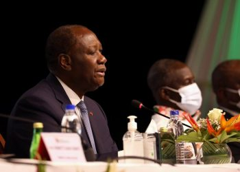 Ivory Coast President Alassane Ouattara attends the meeting of the political committee of Ivory Coast's ruling RHDP party to select their candidate for October's presidential election in Abidjan, Ivory Coast July 29, 2020. REUTERS/Luc Gnago
