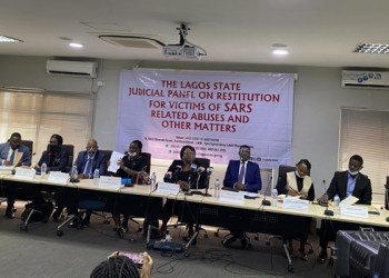 A file photo of the Lagos State Judicial Panel during a session