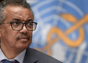 World Health Organization (WHO) Director-General Tedros Adhanom Ghebreyesus attends a press conference organised by the Geneva Association of United Nations Correspondents (ACANU) on July 3, 2020, at the WHO headquarters in Geneva. Fabrice COFFRINI / POOL / AFP