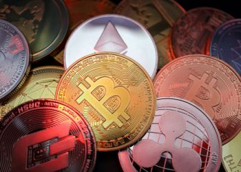 Representations of cryptocurrencies including Bitcoin, Dash, Ethereum, Ripple and Litecoin are seen in this illustration picture taken June 2, 2021. REUTERS/Florence Lo/Illustration