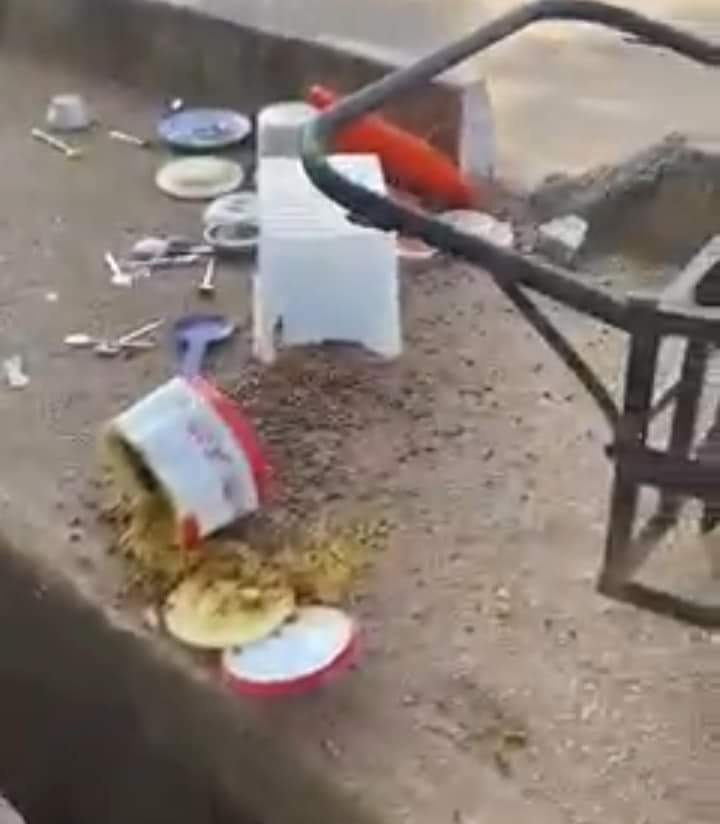 Commissioner poured woman food away
