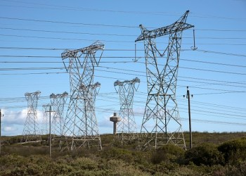 Melkbosstrand North of Cape Town South Africa Power Lines Feed Electricity To the National Grid From the Koeberg Nuclear Power Station. (Photo by: Education Images/Universal Images Group via Getty Images)