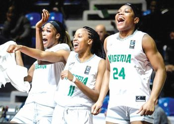 [FILES] The D'Tigress celebrating their qualification for the Tokyo 2020 Olympics.
