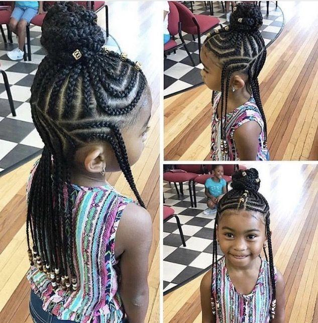 coiffure tresses nattes pour enfant