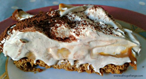 ginger banoffee pie slice