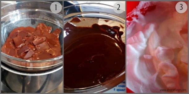 French chocolate mousse recipe stages