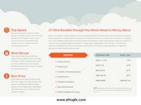 Elephant Cloud Trifold Brochure Front